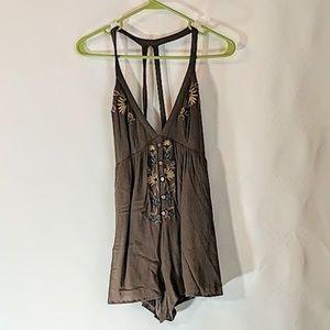 Lush Romper Fun Shorts Outfit BOHO sz M